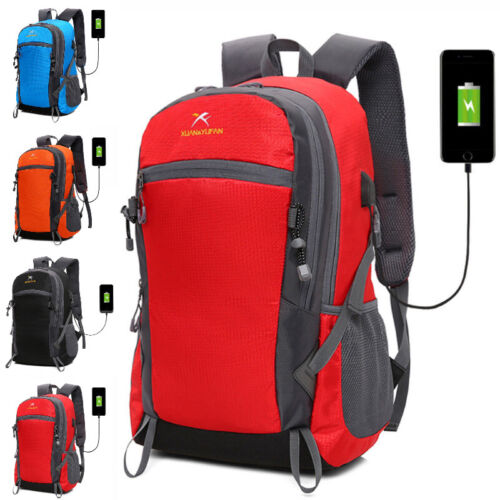USB Charging Backpacks Laptop Notebook Hiking Camping Travel