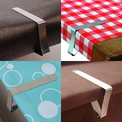 4pcs Edelstahl Tischtuch Klammern Tischdeckenklammer Tischtuchhalter Halter Clip