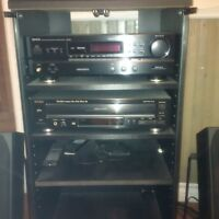 Denon CD player with TEAC amp, receiver, Mission speakers