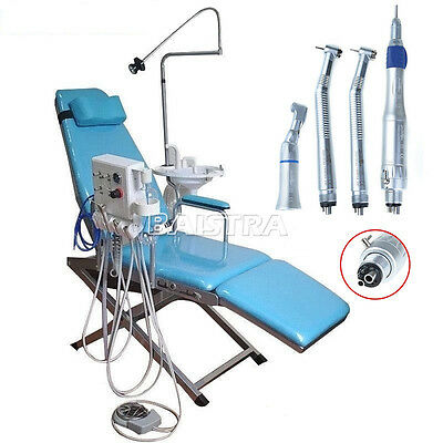Portable Folding Dental Chair Unit Equipment High Low Speed Handpiece Kit