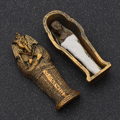 Resin Egyptian Mummies Figure in a Sarcophagus Home Ornament Halloween Gift - Egyptian Gifts