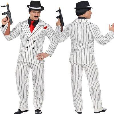 Gangster Anzug Kostüm Mafia 20er 30er Jahre Al Capone Ganove Herrenkostüm weiß