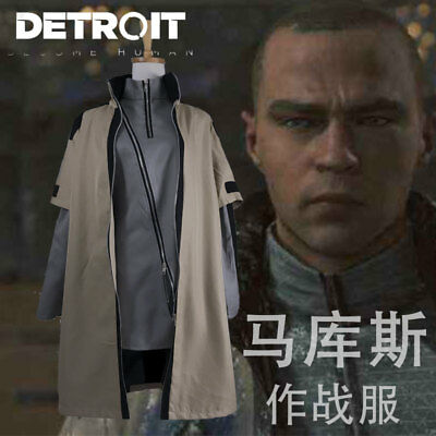 Hot Game Detroit  Become Human Markus Daily Cosplay Costume Uniform  Mm 1560