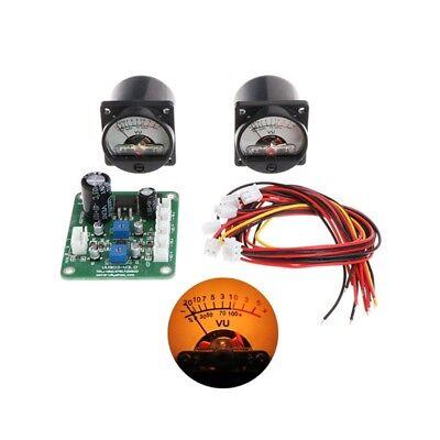 2pcs Vu Panel Meter Warm Back Light Cables Recordingdurable Driver Board Module