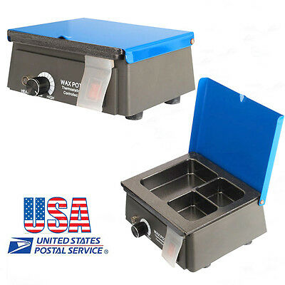 Usadental 3 Well Analog Wax Melting Dipping Pot Heater Melter Lab Equipment