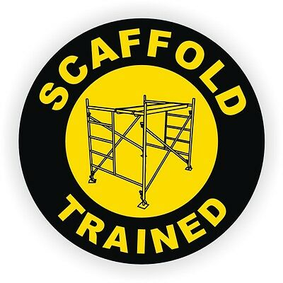 Scaffold Trained Hard Hat Sticker | Safety Motorcycle Helmet Decal | Scaf Dog