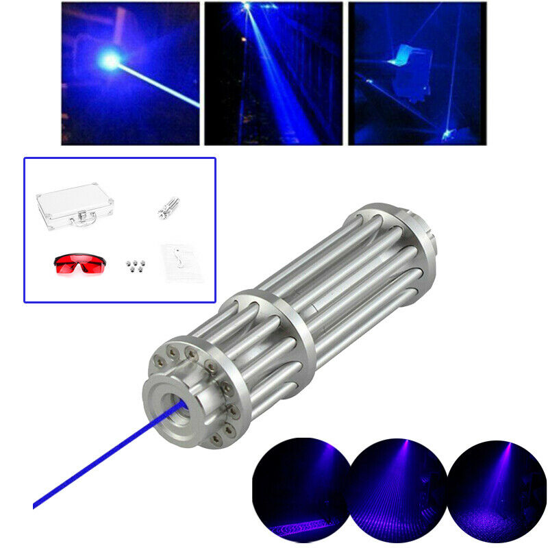 1MW Laser Focus Pointer Pen Blue Lazer Light Beam Licht Adjust Flashlight Boxed