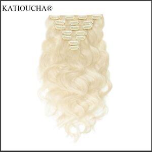 100% HUMAN HAIR/ Blonde body wave CLIP IN hair extensions, 7 pcs Regina Regina Area image 8