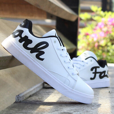 Winter White Casual Shoes (Autumn Winter Young Men's Casual Shoes Breathable White Sports Shoes)