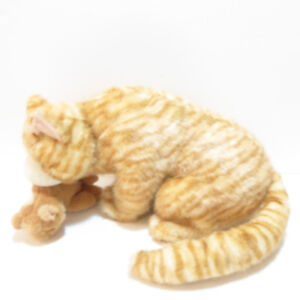 LARGE MOTHER CAT WITH KITTEN STUFFED ANIMALS - NEVER USED/MINT