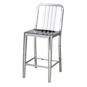 3 Stainless Steel Bar Stools