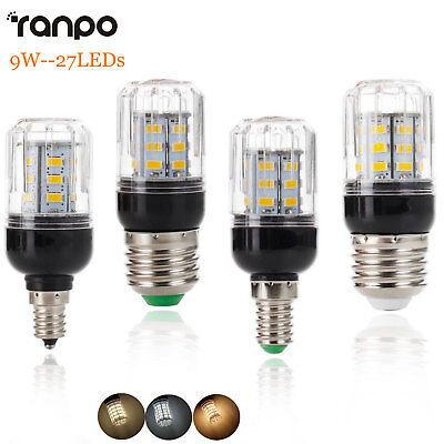 E27 E12 E26 E14 9W 27LEDs Lamp LED Corn Bulb Light 5730 SMD 110V 220V DC 12V (12v 24 Led Bulb Lamp)