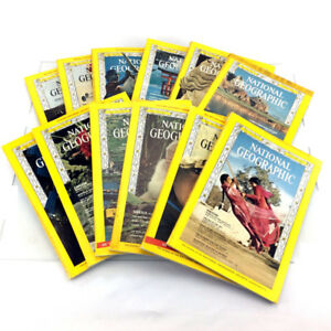1967 National Geographic Magazines Complete Year Set 12 Issues