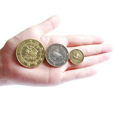 3PCS Harry Potter Hogwarts Gringotts Bank Wizarding Galleons Commemorative Coins