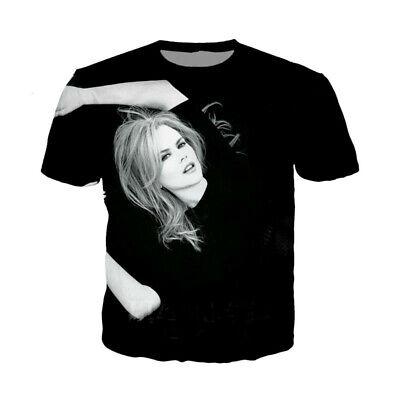 Nicole Kidman Celebrity (Celebrity Nicole Kidman 3D print Casual T-Shirt New Women Men Short Sleeve Tops)