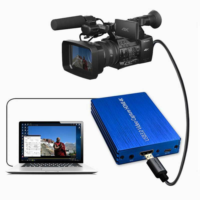 4K HDMI to USB 3.0 Video HDMI Capture Card Dongle 1080P 60fp