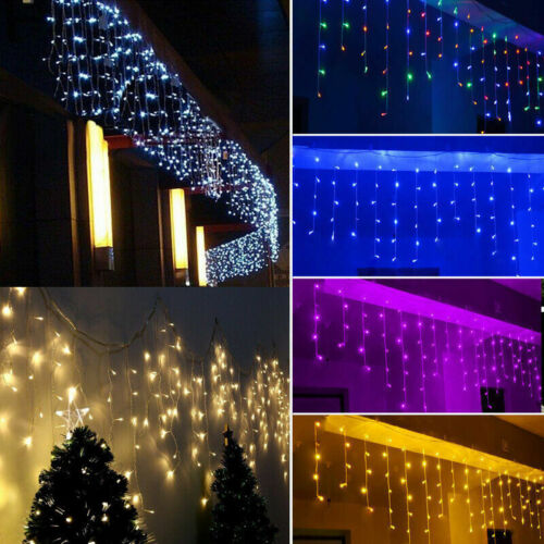 96LED Icicle Curtain String Lights Lamps Christmas Wedding P