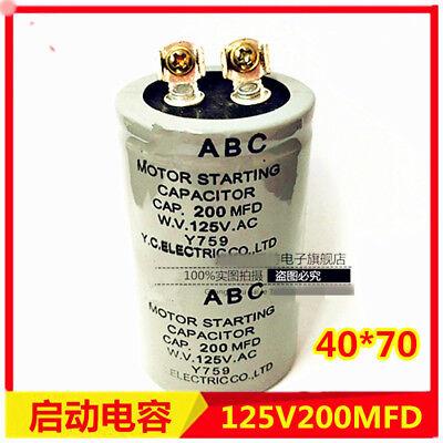- 100/300/400/600/800/1000/1200uF MFD ABC 125VAC Electric Motor Start Capacitor