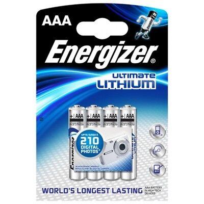 4x Batterien LR03 Micro AAA Energizer Ultimate Lithium im 4er-Blister ()