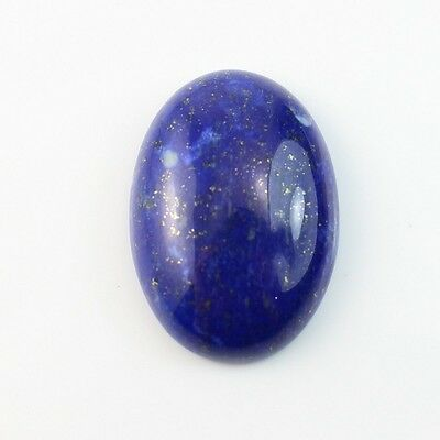 LARGE 18x13mm OVAL CABOCHON-CUT ROYAL-BLUE NATURAL LAPIS LAZULI GEMSTONE