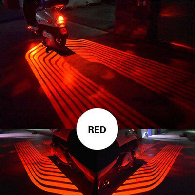 Red Angel Wings LED Projector Car Motorcycle Courtesy Shadow Welcome Light 12V