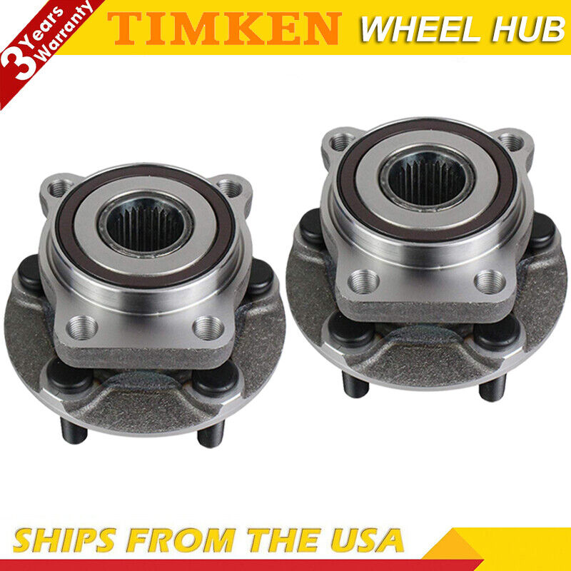 Pair Set of 2 Front Timken Wheel Bearing Hub Assies Kit for Buick Chevy GMC AWD