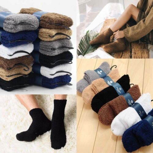 Extremely Cozy Cashmere Socks Men//Women Winter Warm Sleep Bed Floor Home Fluffy