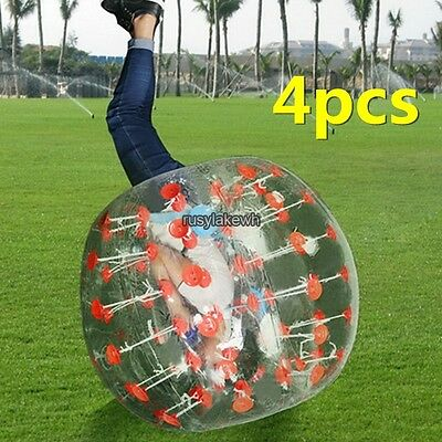 U S 4Pcs Body Inflatable Ball Gum Bumper Football Zorb Human Bubble Soccer