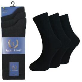 360 Pairs Mens Ralph Lewis Everyday Cotton Black Work Dress Formal Socks Lot Wholesale Clearance New