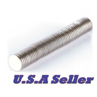 50pcs 6mm X 1mm Strong Small Round Disc Rare Earth Neodymium Magnets N35 Usa