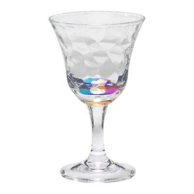 MERRITT CASCADE RAINBOW 12OZ ACRYLIC WINE GLASSES - SET OF 4- PATIO/POOL GLASSES