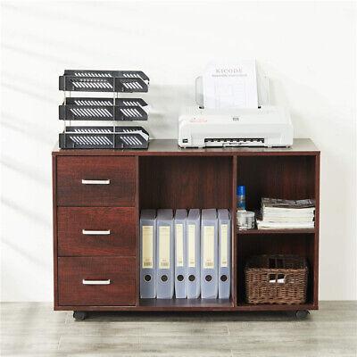 3-drawer File Cabinet Filing Storage Organizer W Wheels Open Shelf Furniture
