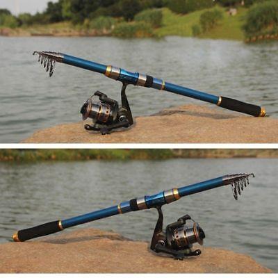2.1M Fishing Rod Ultralight Carbon Fiber Telescopic Portable Sea Spinning Pole