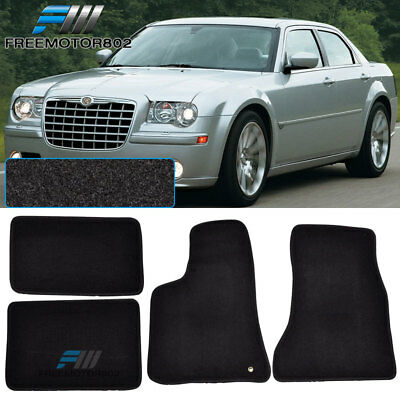 For 05-10 Chrysler 300 300C 4Dr Black Nylon Floor Mats Carpets -