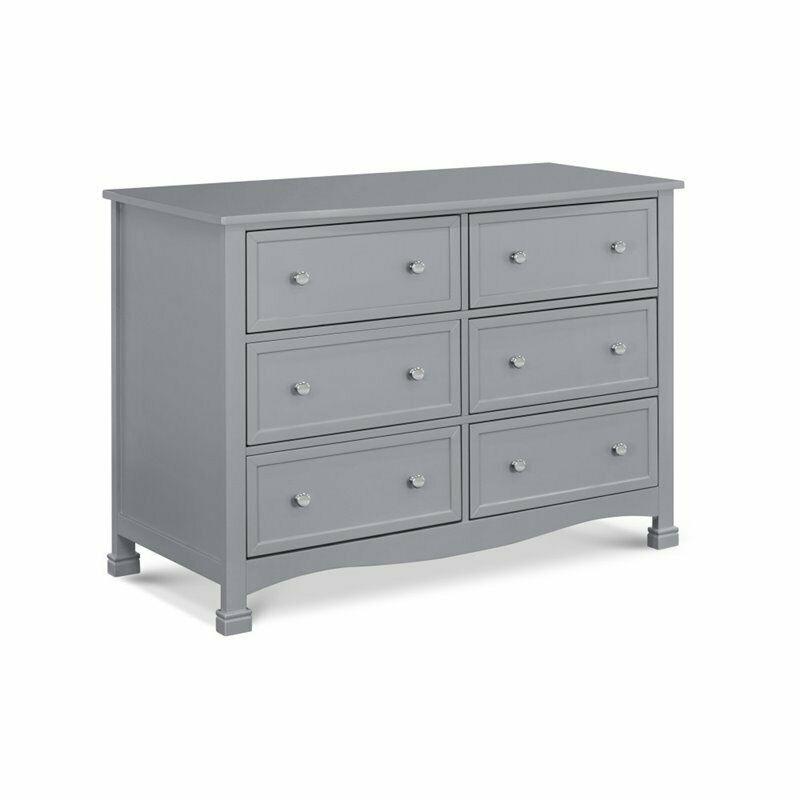 DaVinci Kalani 6 Drawer Double Wide Dresser in Gray