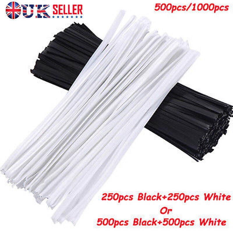 Plastic Shell Package Reusable Twist Ties Cable Wires 100pcs Black H8H6