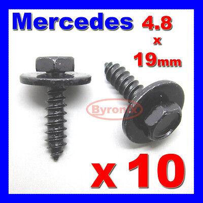 MERCEDES SELF TAPPING TAPPER SCREW & WASHER 4.8 x 19 mm BLACK 8mm HEX HEAD