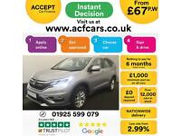 2016 SILVER HONDA CR-V 2.0 I-VTEC SE 4WD PETROL ESTATE CAR FINANCE FR £67 PW