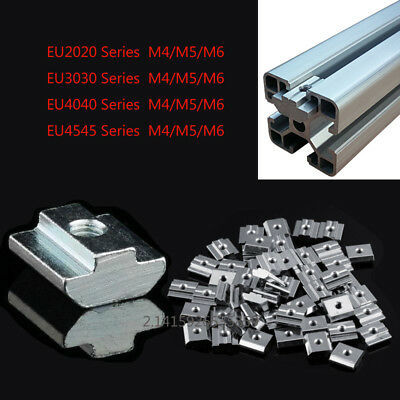 Slide-in Nuts M4m5m6 F 2020 3030 4545 T-slot Aluminum Extrusioncnc 3d Printer