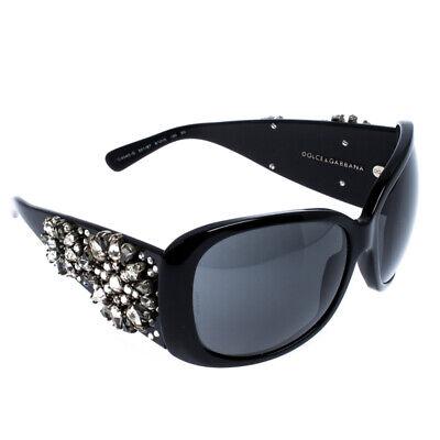 Dolce&Gabbana Black DG 4040-G Crystal Embellished Oversize Sunglasses