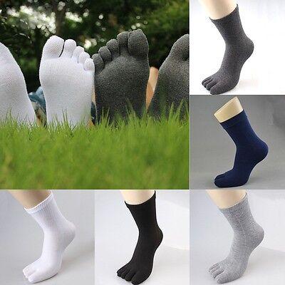 Men Women Unisex Cozy Cotton Ankle Socks Sport Five Casual Toes Sock Finger Sock