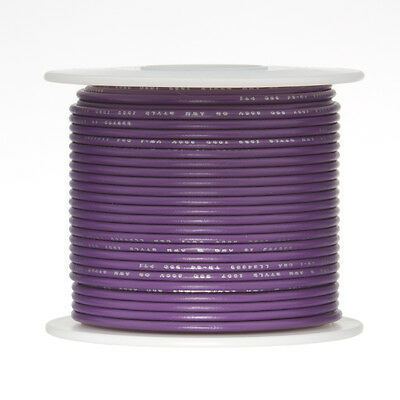 20 Awg Gauge Solid Hook Up Wire Violet 500 Ft 0.0320 Ul1007 300 Volts