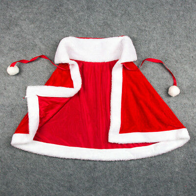 Santa Claus Cape (Women Merry Christmas Mrs Santa Claus Red Cloak Xmas Costume Cappa Cloak)