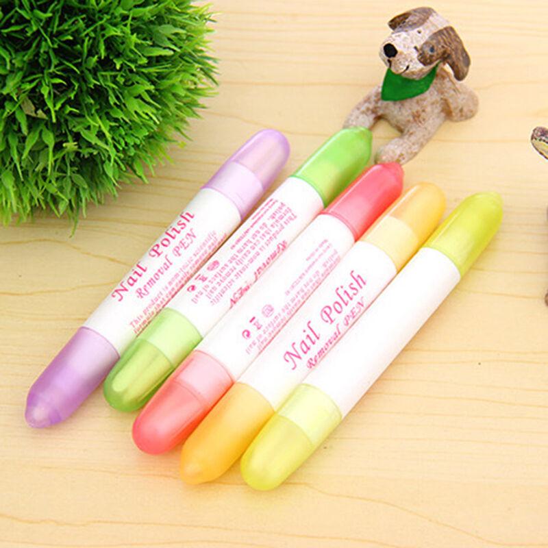 How Long Does Nail Polish Remover Last: 5 X Nail Art Polish Corrector Remover Pen With 15 Tips