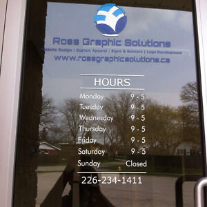 Store Signs, Vehicle Signs, Window Signs, Lawn Signs and more London Ontario image 1