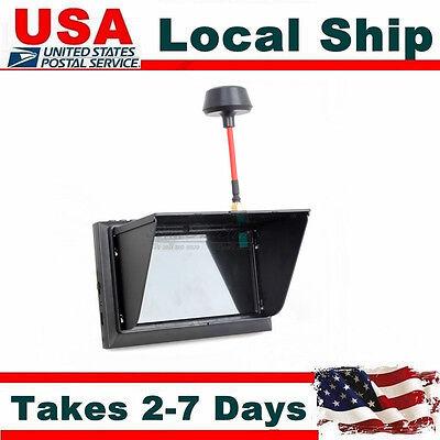 Black Fpv Monitor 32Ch 4 3  Screen Wireless Diversity Receiver F408 For Rc Drone