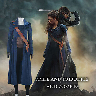 Pretty COOL Trench COS Pride and Prejudice and Zombies Elizabeth Bennet Cosplay ](Pride And Prejudice And Zombies Costume)
