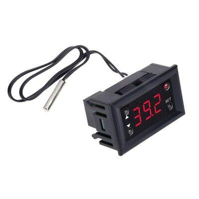 W1218 Digital Thermostat DC12V Temperature Controller For Incubator w/ Probe Red