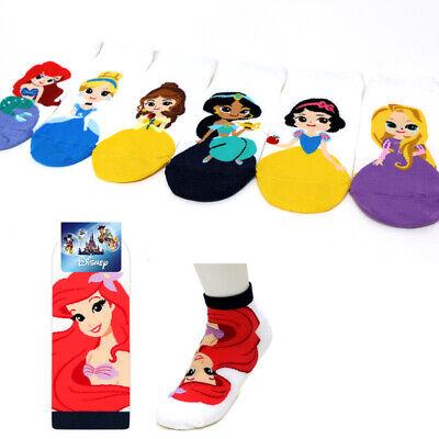 New Princess Friends Character Socks Women Girl Funny Cute Cartoon Socks 7 Pairs