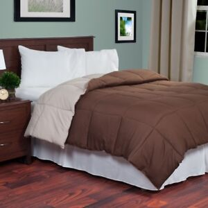 Reversible Down Alternative Comforter - Queen, New